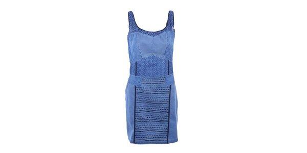 Dámské modré šaty na ramínka Angels Never Die