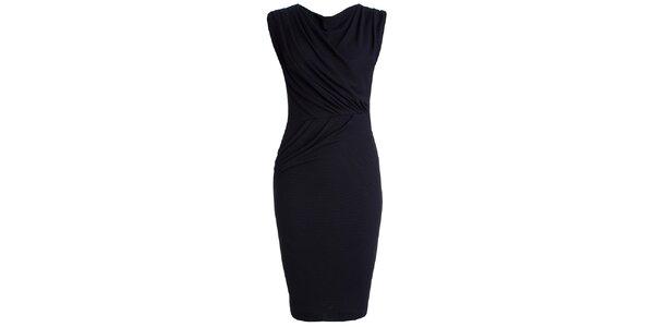 Dámské tmavě modré šaty s efektním řasením CeMe London