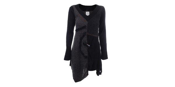 Dámské tmavě šedé sešívané šaty Dislay DY Design