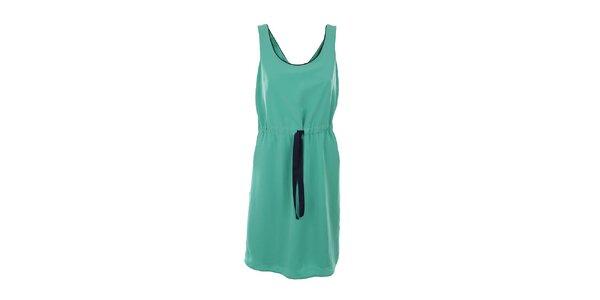 Dámské zelené šaty s modrým lemováním Tommy Hilfiger
