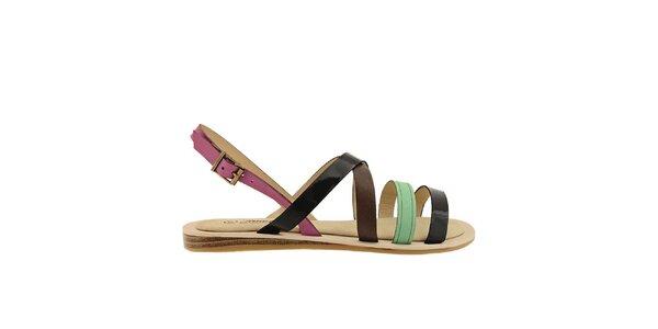 Dámské barevné páskové sandálky Timeless