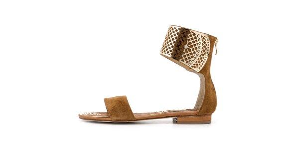 Dámské béžové sandálky se sponou Blink