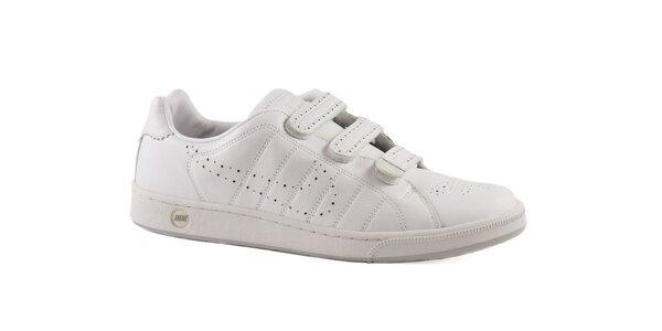 Bílé perforované kožené tenisky Nike