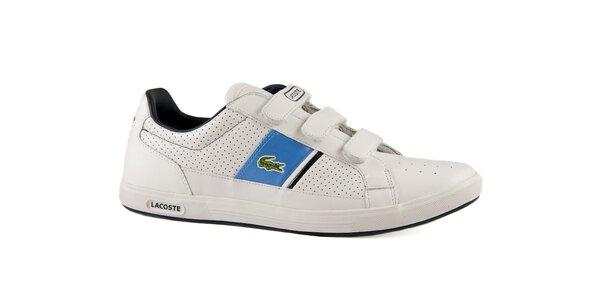 Bílo-modré kožené tenisky Lacoste