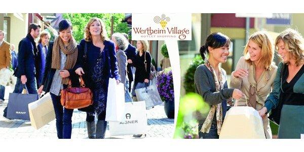 Jarní nákupy v outletové vesničce Wertheim Village