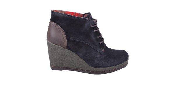 Dámské tmavě modré boty na platformě Tommy Hilfiger