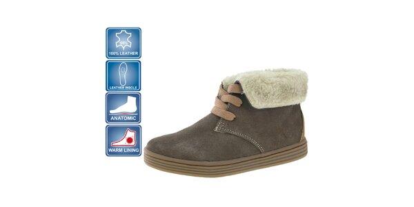 Dětské hnědé semišové boty Beppi