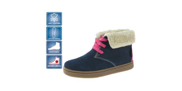 Dětské tmavě modré semišové boty Beppi