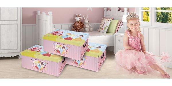 Úložná krabice na nezbytnosti s motivem princezen