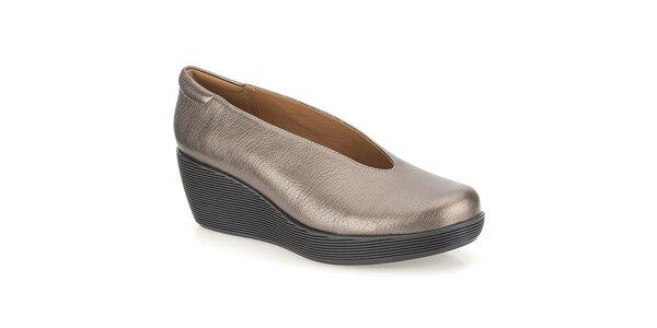 Dámské bronzové boty na platformě Clarks