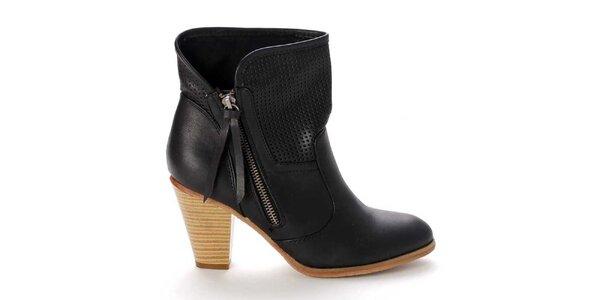 Dámské černé boty na zip Destroy