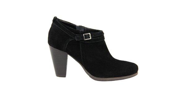 Dámské černé semišové boty na podpatku Giorgio Picino