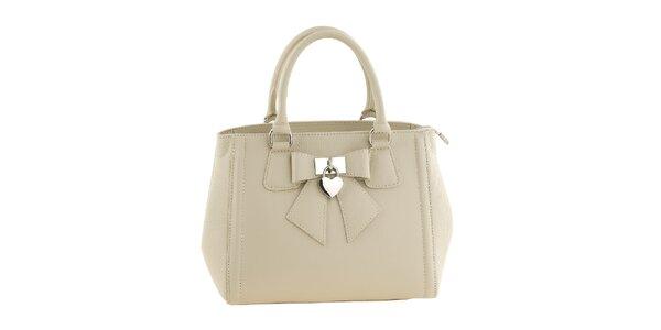 Dámská béžová kabelka s mašličkou a srdíčkem Classe Regina