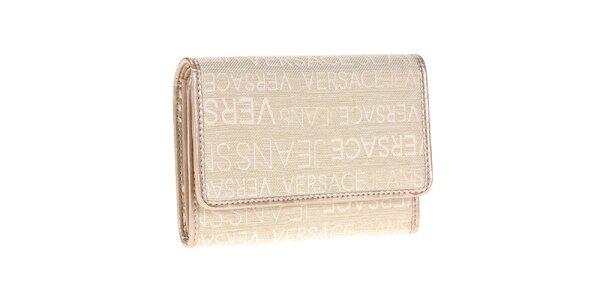 Dámská béžová peněženka se vzorem Versace Jeans