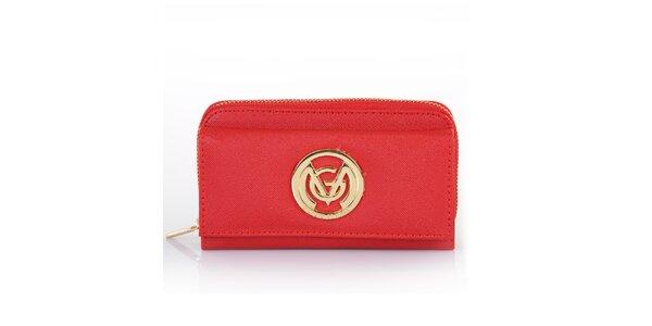 Dámská červená peněženka se zipem Giorgio di Mare