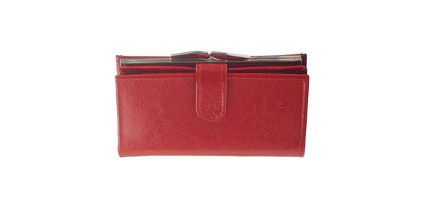 Dámská kožená peněženka Felice - červená