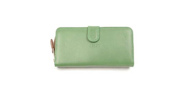 Dámská zeleno-hnědá peněženka Acosta