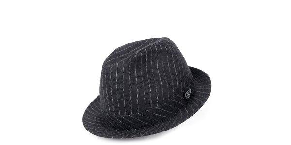 Pánský černý klobouk s pruhy Chico