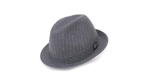 Pánský šedý klobouk s pruhy Chico