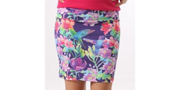 Dámská sukně s barevným potiskem Santa Barbara