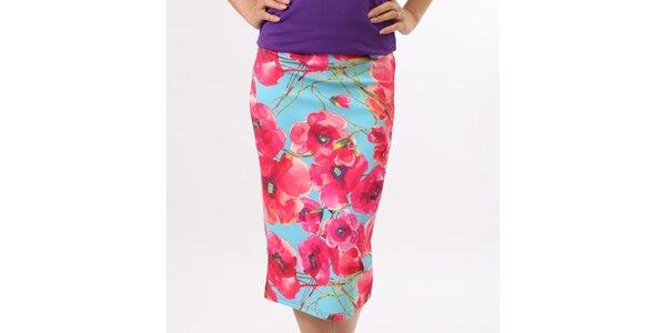 Dámská sukně s květinovým potiskem Santa Barbara