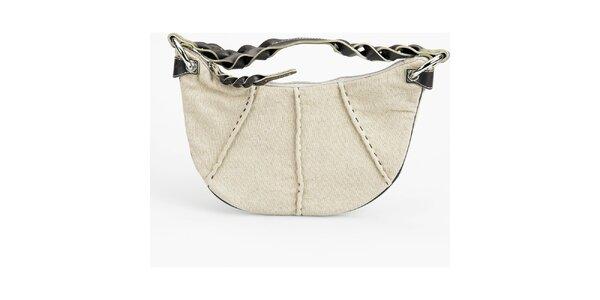Dámská béžová lněná kabelka Sisley