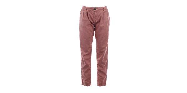 Dámské bavlněné kalhoty v barvě smoke rose Timeout