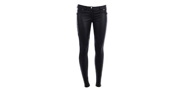 Dámské lesklé černé kalhoty Phard