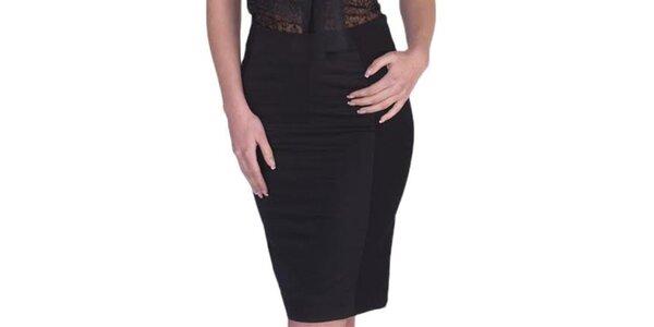 Dámská černá pouzdrová sukně Arefeva
