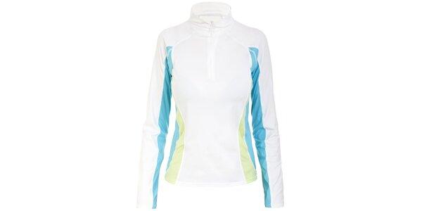 Dámské bílé funkční tričko s tyrkysovými prvky Trespass