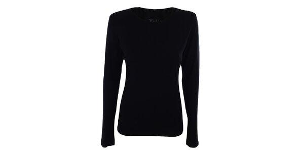 Dámské černé tričko s malým výstřihem YU Feelwear