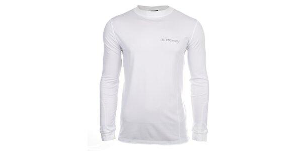 Pánské bílé fukční tričko s dlouhými rukávy Trimm