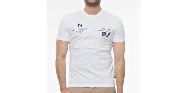 Pánské bílé tričko s potiskem Nautica