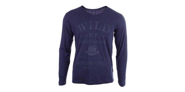 Pánské modré tričko s nápisy Big Star