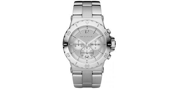 Dámské hodinky s chronografem Michael Kors - stříbrná barva