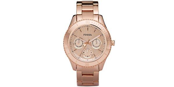 Dámské pozlacené hodinky v barvě růžového zlata Fossil