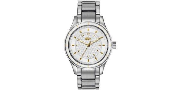 Dámské hodinky z nerezové oceli se zlatými prvky Lacoste