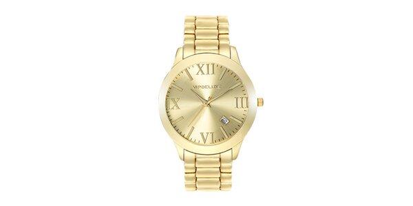 Dámské hodinky z nerezové oceli ve zlaté barvě Swarovski Elements