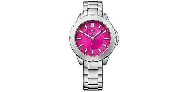 Dámské ocelové hodinky s růžovým ciferníkem Tommy Hilfiger