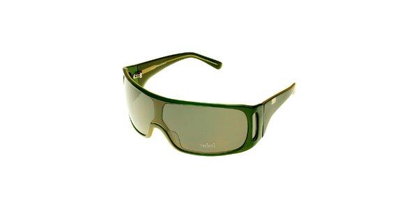 Dámské sytě zelené sluneční brýle Axcent