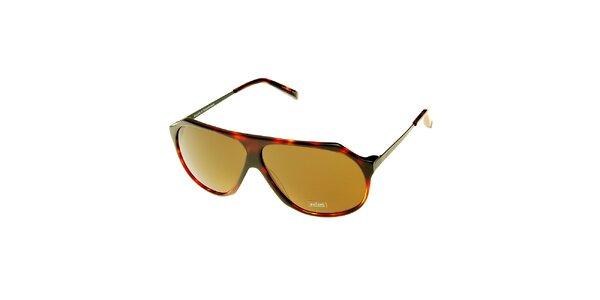 Dámské hnědé želvovinové sluneční brýle Axcent