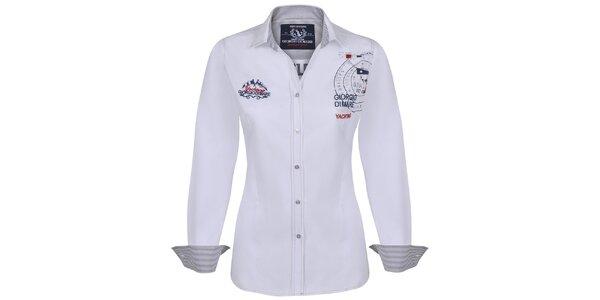 Dámská bílá košile s výšivkami Giorgio Di Mare
