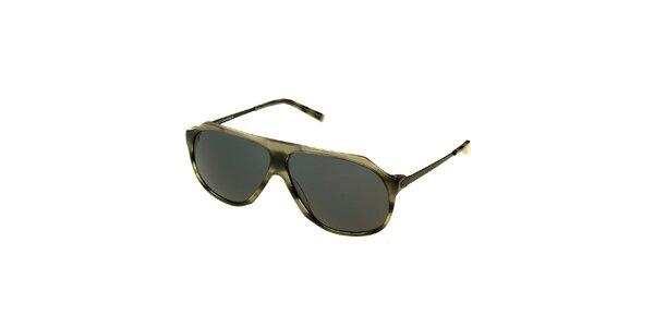 Dámské šedé žíhané sluneční brýle Axcent