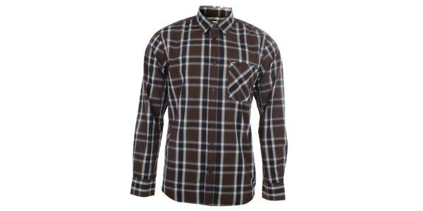 Pánská hnědá vzorovaná košile s kapsou Big Star