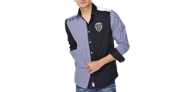 Pánská modro-bílá kostičkovaná košile M. Conte