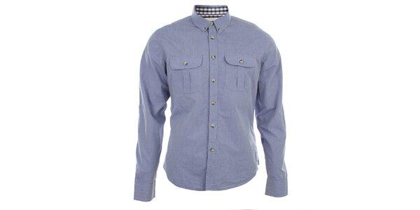 Pánská světle modrá košile s kapsami Big Star