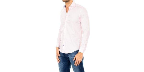 Pánská světle růžová košile Tommy Hilfiger