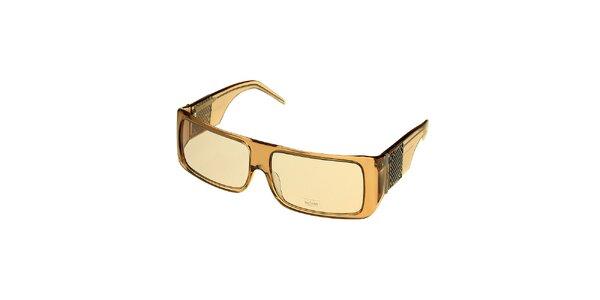 Dámské béžové transparentní sluneční brýle Axcent