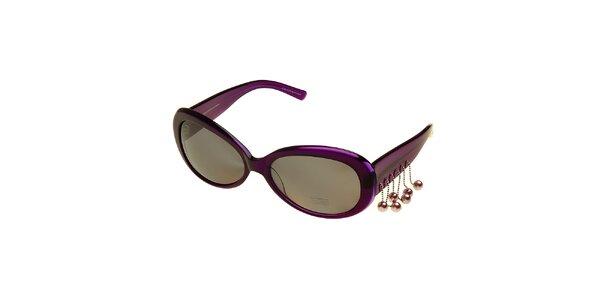 Dámské fialové sluneční brýle Axcent s přívěsky