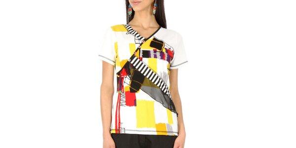 Dámský barevný top s krátkým rukávem Squise